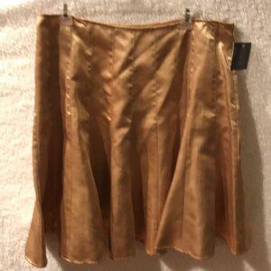 Apostrophe Petite Gold Skirt Size 16 P